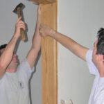 Trabajadores en construcción accesible